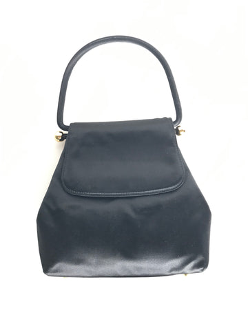 PALOMA PICASSO Black Satin Bag