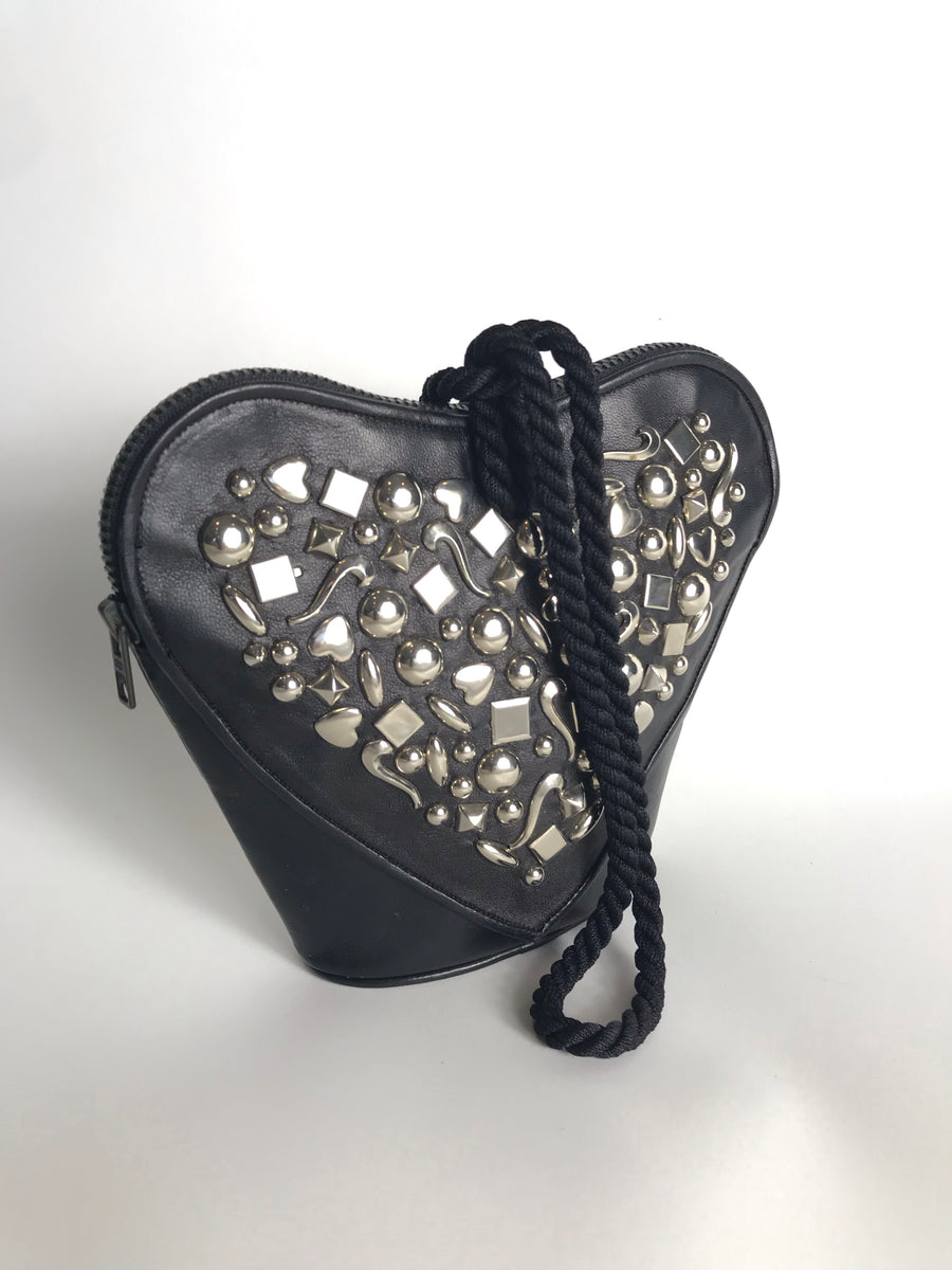 RENAUD PELLEGRINO Heart Shaped Studded Bag
