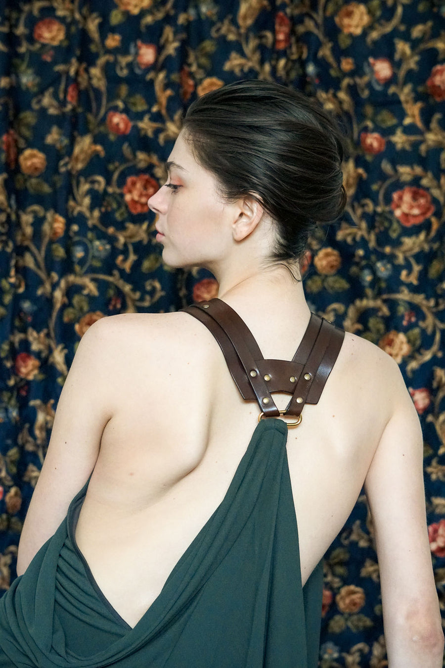 GUCCI Leather Harness Dress