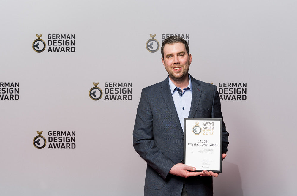 Petr with our German Design Award for Excellent Product Design 2017