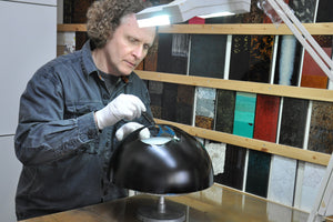 Master craftsman Sergej Kirilov of Studio Lacquer Decor.