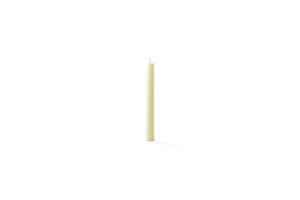Six inch church candle of beeswax