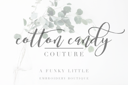 Cotton Candy Couture: A Funky Little Embroidery Boutique