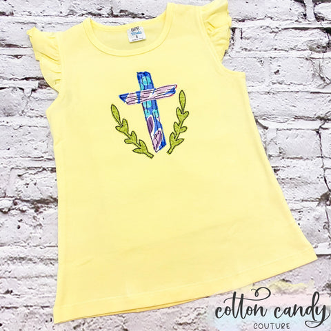 Flutter Sleeve Tee -  Cross - 8