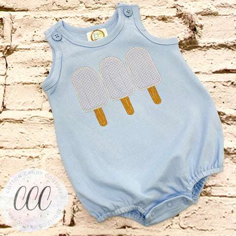 Light Blue Tank Bubble - Popsicle Trio - 12m