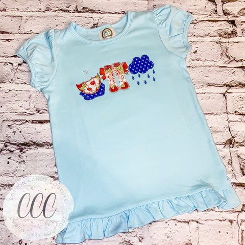 Rainy Day Trio Ruffle Short Sleeve Tee - 6