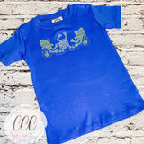 Frog Sketch Trio Royal Short Sleeve Tee - 4T