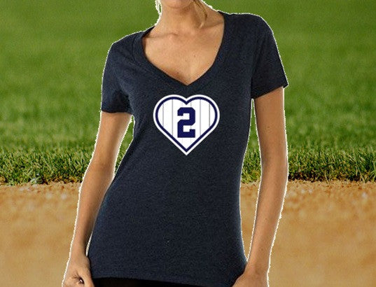 Ladies pinstriped heart #2