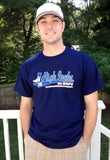 David Robertson wearing High Socks tee