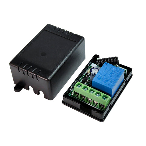 QIACHIP 433Mhz Universal Wireless Remote Control Switch RF Relay Receiver Module Low Power For Light Relay 4 button Transmitter Receiver KT06-4+RX136E-4