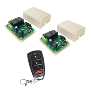 Qiachip KT16+KR2402A*2 kit | DC6-30V 2CHANNEL RECEIVER | INSTRUCTION Relay Circuit Receiver | 433MHz DIY Wireless Receiver Remote Control Switch and RF Remote Controls