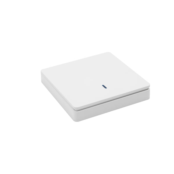 QIACHIP Smart Home Switch Wall Panel Light Control 433Mhz Wireless Remote Control Light Switch White WP8601&KR2201