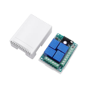 Qiachip KR1204-4 Universal Wireless Remote Control Switch DC12V 4CH relay Receiver Module 433Mhz