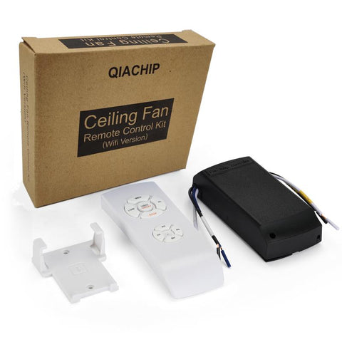 QIACHIP FLCW Universal Ceiling Fan and Lights Wireless Remote Control Kit with WiFi