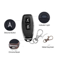 433Mhz 2 button Metal Remote Control Learning code EV1527 wireless on/off Printing logo transmitter