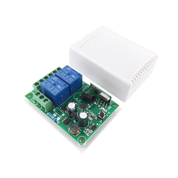 Wireless Remote Control Switch AC 250V 110V 120V 220V 230V 2-Channels Relay Receiver Module and RF 433 Mhz Remote Controls QIACHIP KR2202-4&KT01/KT05