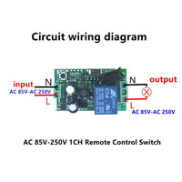433Mhz Universal Wireless Remote Control Switch AC 85V ~ 250V 110V 220V 1 Channel Relay Receiver Module and RF 433 Mhz Remote Controls kr2201-4
