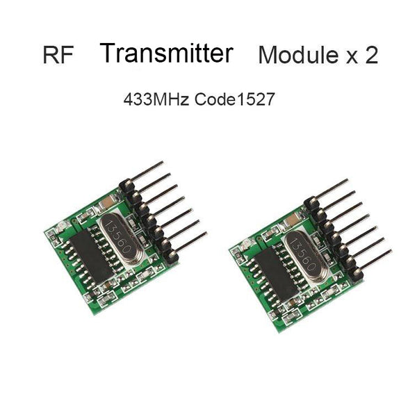 QIACHIP 2x RF Transmitter Encoding Module, DIY Remote control set. 18*18mm TX118SA