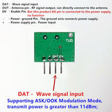 superheterodyne 433Mhz RF transmitter and receiver Module