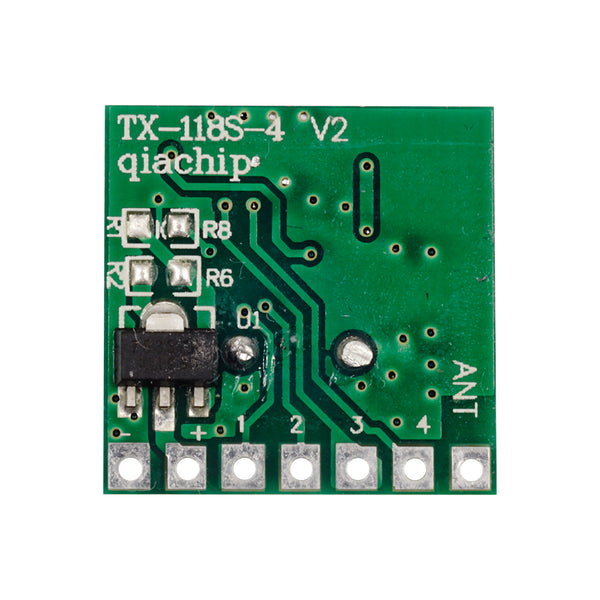 QIACHIP 2PCS TX118SA-4 RF Wireless Transmitting Module ( without Pin) | 433Mhz | 1527 Learning Encoding