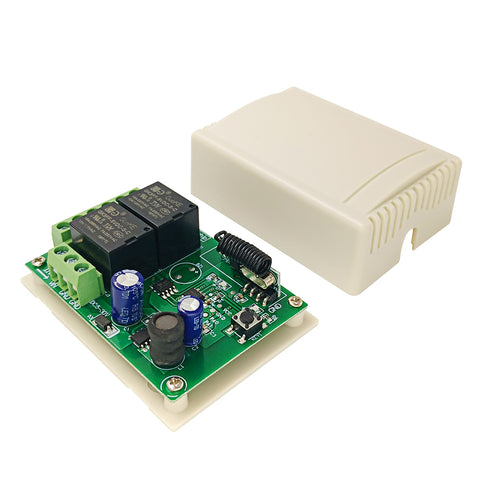 Qiachip DC6-30V 2CHANNEL RECEIVER INSTRUCTION Relay Circuit Receiver Module  433MHz DIY Wireless Receiver Remote Control Switch and RF Remote Controls Switch No Disturb Light Door Control KR2402