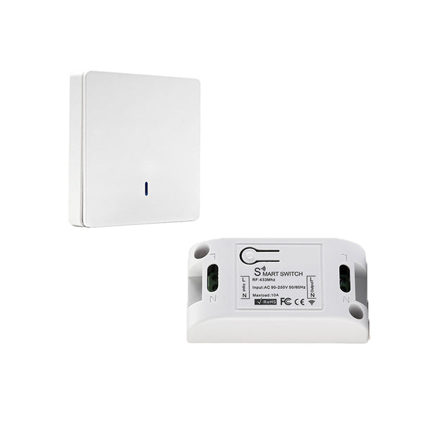 QIACHIP Wireless Remote Control Switch AC 110V 220V Receiver Wall Panel Remote Transmitter Hall Bedroom Ceiling Light Switch KR2201D&KT05/Wall Panel
