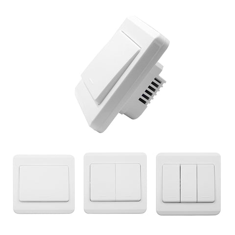 QIACHIP 433Mhz RF Remote Control Switch Dual Control Zero FireWire 86 Wall Panel Wireless Receiver For Light Lamp Bulb Smart Home SK301/2/3