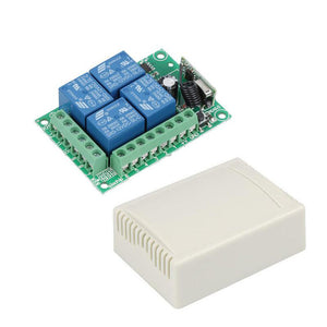 Wireless Remote Control Switch DC 12V 4CH Relay Receiver Module RF Transmitter
