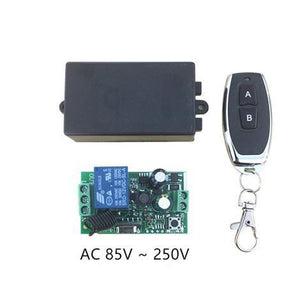 433Mhz Universal Wireless Remote Control Switch AC 85V ~ 250V 110V 220V 1 Channel Relay Receiver Module and RF 433 Mhz Remote Controls KR2201-4/KT05