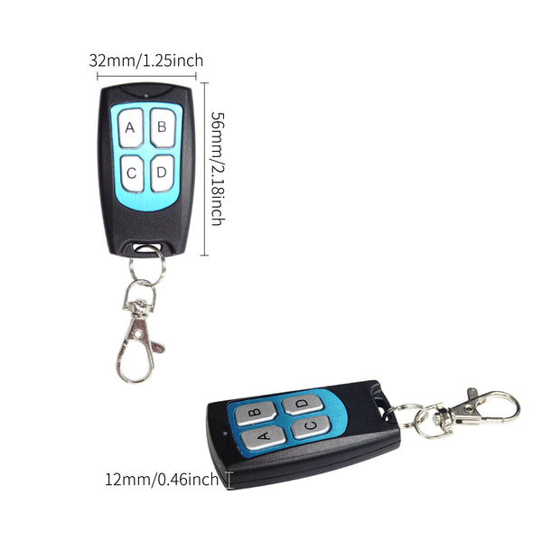 Qiachip KT19-4 433Mhz 4 button Metal Remote Control Learning code EV1527 wireless transmitter