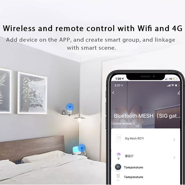 Tuya Bluetooth 5.0 2 LEDs MESH SIG Gateway Hub Wireless Smart Life Home APP Remote Controller For Google Alexa
