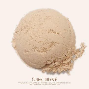 Cafe Breve [With Jar]│Loose Mineral Foundation - Ellana Cosmetics