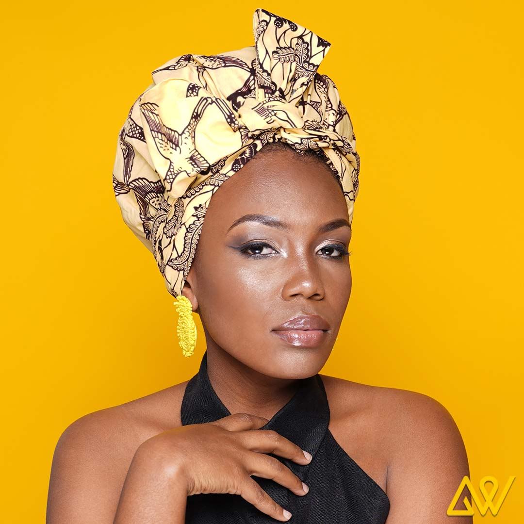 If you are looking for comfort and style that saves time and effort, try the new Head wraps. They are the most convenient and easy way to give a fine finish to your attire. It is a piece of clothing accessory that is worn in the hair or around the forehead, usually to hold hair away from the face or eyes. You have an option to choose from designer head wraps to ordering a customised head wrap at Anewow.  These head-wraps are all with an elastic cap or elastic edge that makes it easy to be fixed on our head, giving you multiple choices to drape them in a manner that suits all your styles. These elastic edges in our designer head wraps allow it to be adjusted according to your face. They give an instant lift to your golden face ratio.  We ensure the use of the most delicate fabric, Satin in all our head wraps so that the softness and comfort is so lightweight that you will forget you have it on. The head wrap are easy to fit and give a smooth finish.   The satin line head wrap ensure  Reduced Frizz, Breakages And Split Ends Promote hair Growth And Volume Maintain Your Hairstyle For Longer  PERFECT SIZE: 51 x 3.54 inches; MATERIAL:  Waxed Cotton &  Satin Inner FEATURE: Effortless Wearing & suitable for everyday use  Age Group: 16-70 yrs  All of the stretch head wrap can be worn with absolute minimal time and effort.  Another added advantage of these good length head wraps is that they cover all hair length and styles and the eye catchy design allows you to stand out in the crowd.