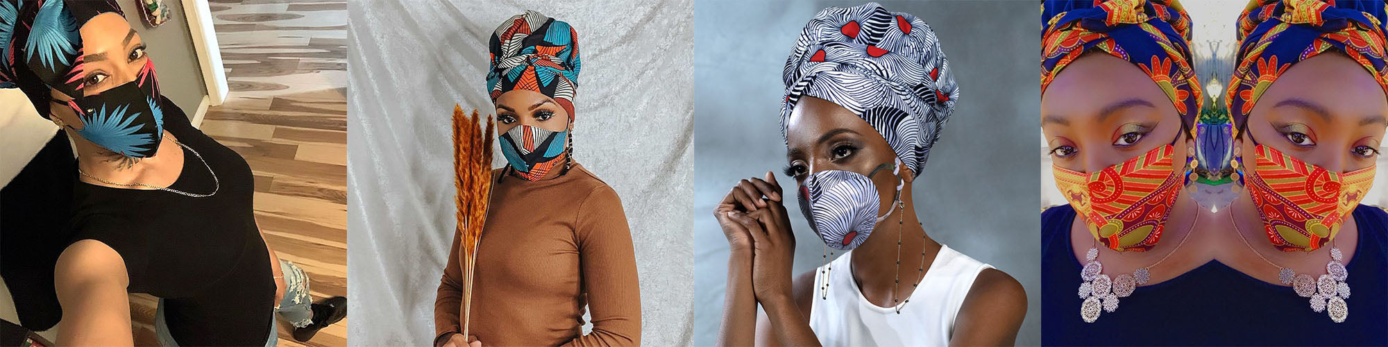 Mask with headwraps