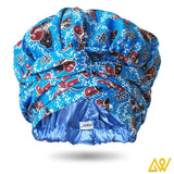 African Print Head Wrap With Satin-Lined-AW1136