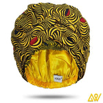 African Print Head Wrap With Satin-Lined-AW1204