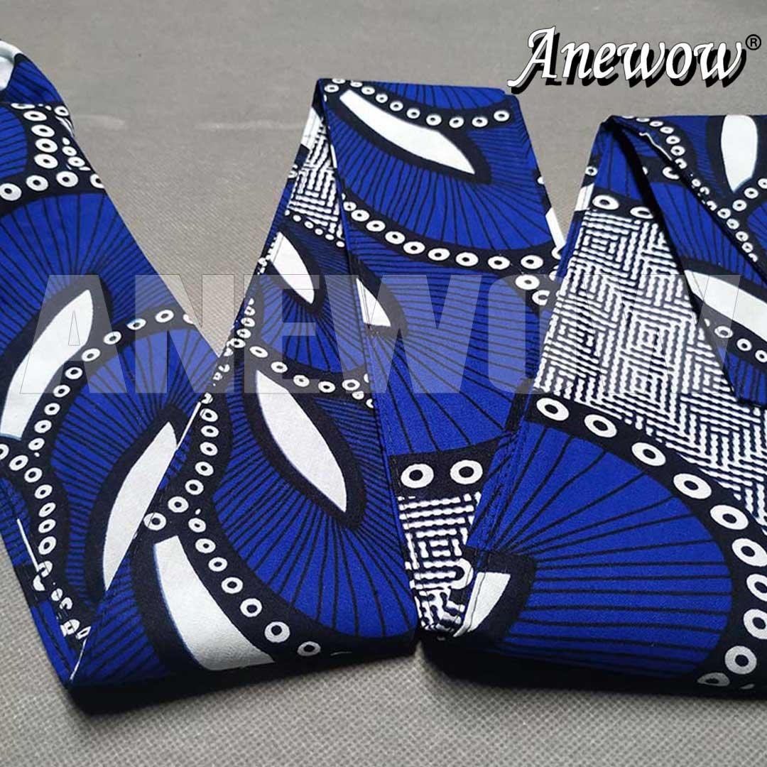 African Print Head Wrap With Satin-Lined-AW1206XL