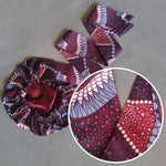 African Print Head Wrap With Satin-Lined(Lyphard Melody) -AW1209