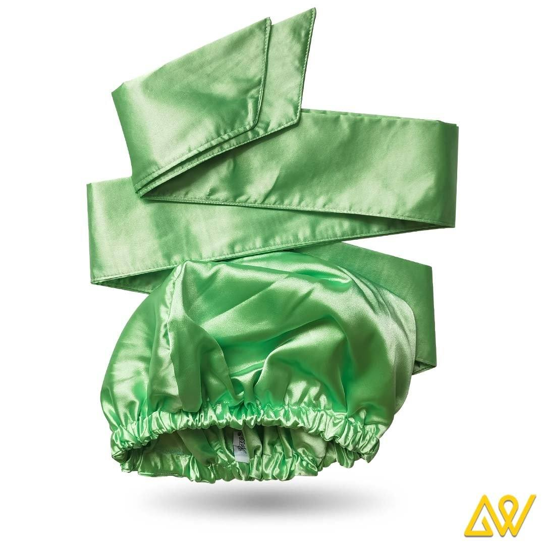 Solid Color Head Wrap With Satin-Lined(Light Green)-AW1804