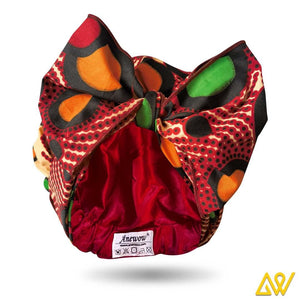African Print Head Wrap With Satin-Lined(Apollo) -AW1842