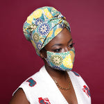 Head Wrap with Matching face cover-AW1884