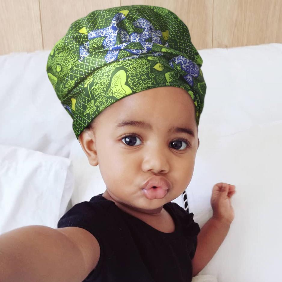 Creative Premium Sexy Mami & Cute Baby Headwrap Suit-AW2970