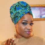 African Print Head Wrap With Satin-Lined(Glory) -AW1846