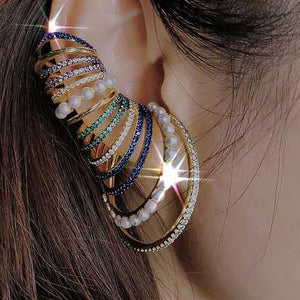 Fantastic Colors Hoop Earrings-AW7003