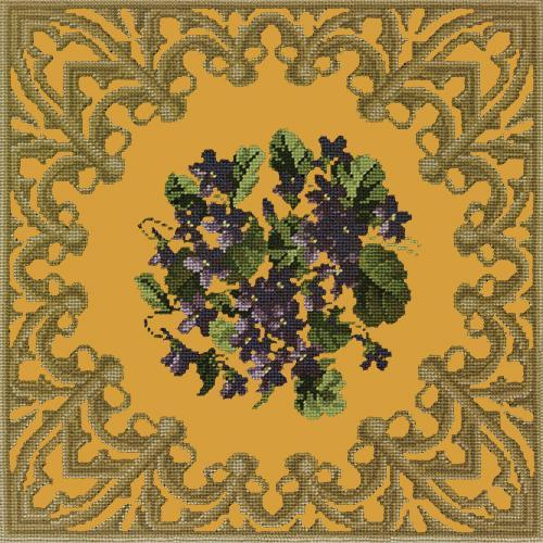 A Posy of Violets Needlepoint Kit Elizabeth Bradley Design Yellow