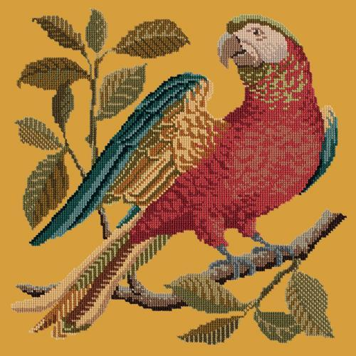 Alister the Parrot Needlepoint Kit Elizabeth Bradley Design Yellow