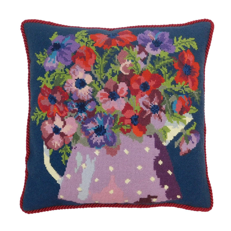 Anemone Pitcher Needlepoint Kit Elizabeth Bradley Design