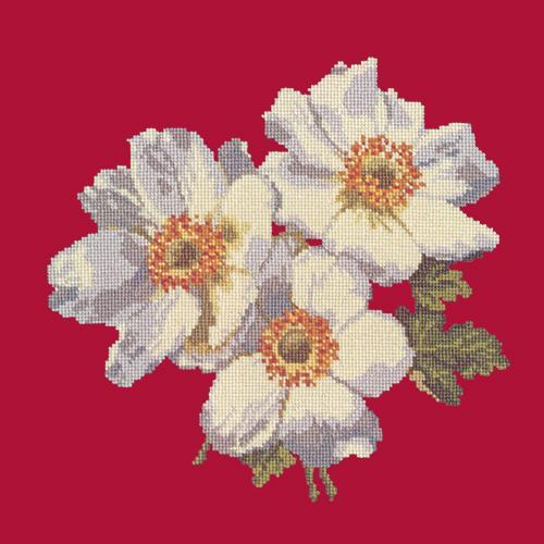 Anemones Needlepoint Kit Elizabeth Bradley Design Bright Red