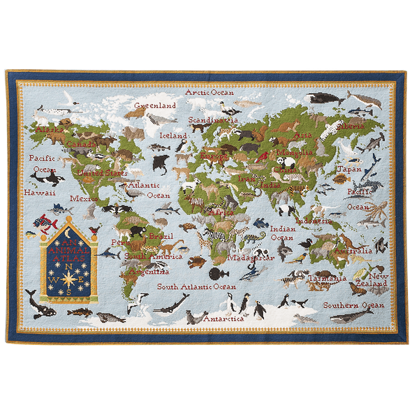 Animal Atlas Needlepoint Kit Elizabeth Bradley Design