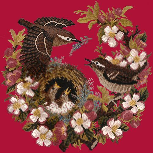 Apple Blossom Needlepoint Kit Elizabeth Bradley Design Bright Red